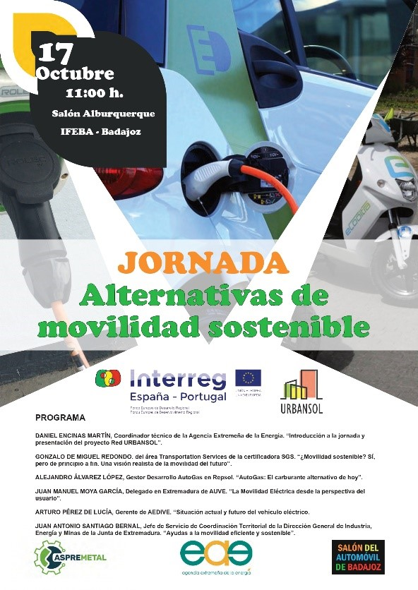 jornada alternativas movilidad sostenible red urbansol salon automovil badajoz