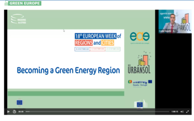 ¡Ya disponible el replay de la sesión BECOMING A GREEN ENERGY REGION!